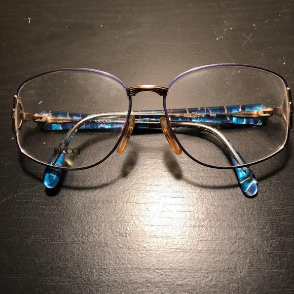0e02b3c505b1 Vintage 1980s Gucci Glasses Frames Tortoiseshell